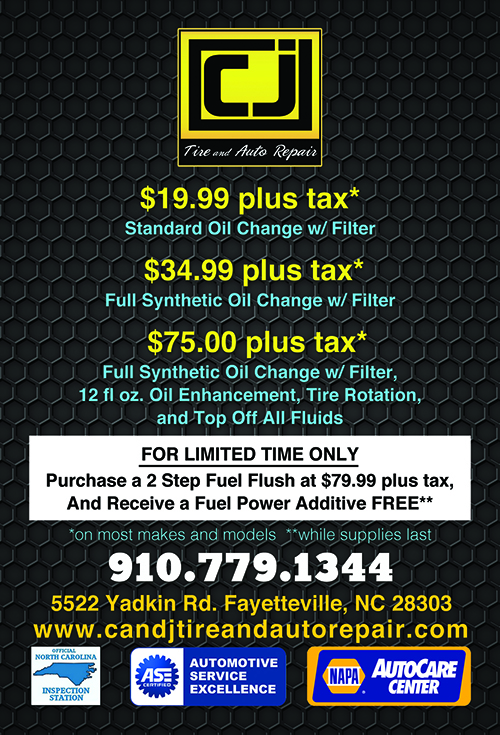 C and J Tire and Auto Repair - 5522 Yadkin Rd, Fayetteville, NC 28303 - 910-779-1344
